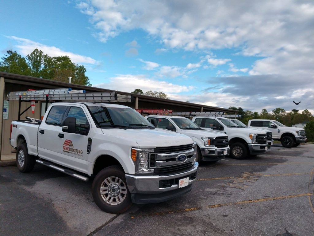 Commercial Roofing Trucks Greenville SC | WNC Roofing