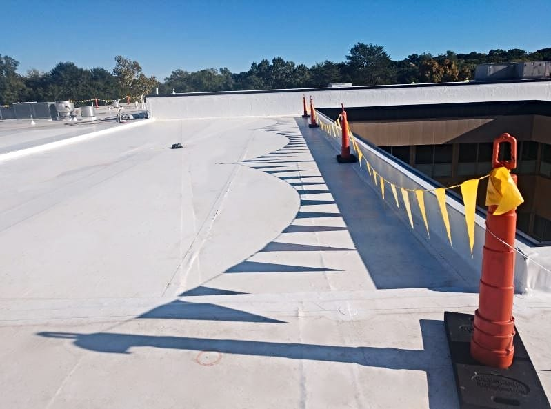 completed tpo roofing project WNC Roofing