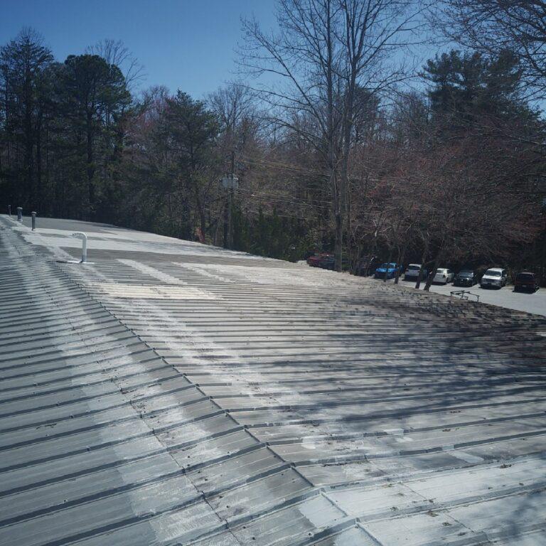 metal roof in need of repair
