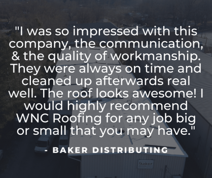 Quote for Baker Distributing re-roof